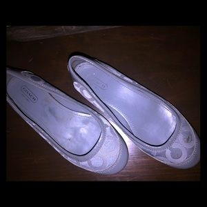 Coach Shoes - Gray Coach Flats